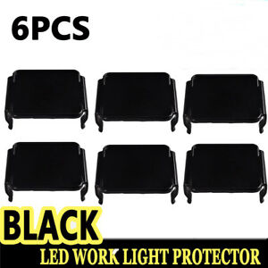 6x Snap On Black Lens Cover For 12w 18w 16w Led Work Light Bar 3x3 Cube Pods