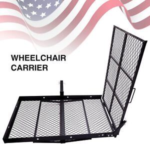 Wheel Chair Trailer Hitch Carrier Scooter Mobility Carrier W Loading Ramp