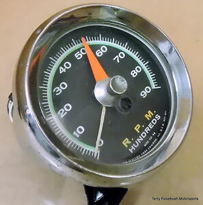 Sun Sst 90 Super Tach 9 000 Rpm Green Face Good Color Dents In Bezel