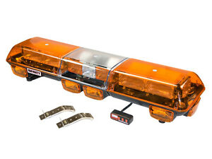 Wolo Amber Flashing Strobe Roof Light Bar Tow Truck Security Snow Plow Emergency