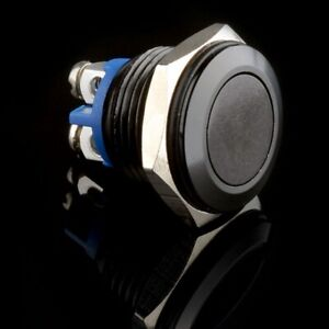 Black 16mm Metal Push Button Momentary Reset Switch 12v Dc Car boat machine