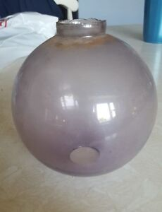 Antique Lightning Rod Glass Ball Clear Purple
