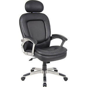 Boss Executive Chair With Padded Headrest And Padded Armrests