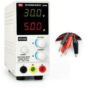 Variable Linear Adjustable Lab Dc Bench Power Supply 0 30v 0 5a Led Display