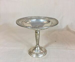 Elgin Silversmith Co Sterling Silver Weighted Compote Bowl 292