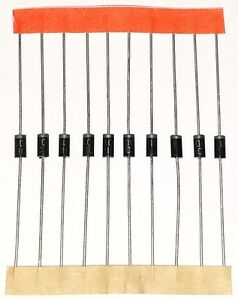 1n4001 Diodes 10pcs Rectifier Diode 50v 1a Do 41 Usa Seller In4001