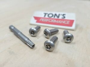 Toyota Security Anti Theft Luxury Auto License Plate Screws Stainless Steel Bolt