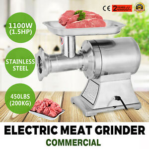 1 5hp Commercial Meat Grinder Sausage Stuffer Mincer Heavy Duty Electric Pro