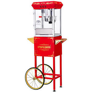 Great Northern Popcorn Red Gnp 800 All star Popcorn Popper Machine And Cart 8