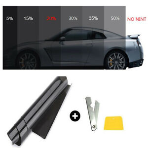 20 Vlt Car Black Pro Car Home Glass Window Tint Tinting Film Roll 50cm 3m New