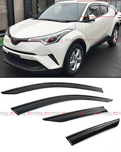 For 17 2020 Toyota C hr Chr Smoke Tinted Window Visor Vent Shade Guard W Clips