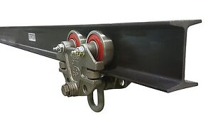 Jervis Webb I beam Trolley And Track Set 1 500 Pound Capacity Beam Trolley With