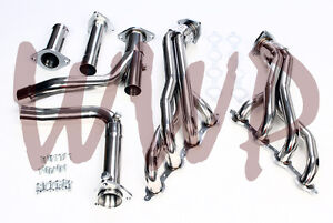 Stainless Long Tube Performance Exhaust Header Y Pipe Kit 07 13 Chevy Gmc 1500