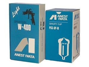 Anest Iwata W 400 134g W400 1 3 Mm Bellaria Classic Plus Spray Gun With Cup New