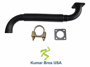 New Kumar Bros Bobcat Exhaust Muffler Pipe W gasket Clamp 643 645 743 1600