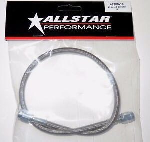 Braided Stainless Steel Brake Line Hose 18 3 An Straight End 18 Inch Length