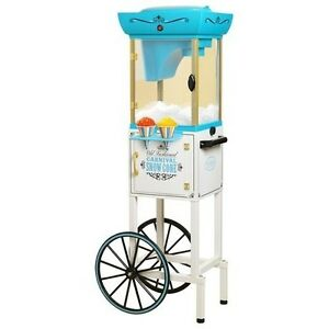 Snow Cone Cart Freestanding Vintage Portable Machine Wheels Commercial Party Ice