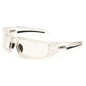 Uvex Hypershock Safety Glasses Clear Ice Frame Clear Uvextreme Anti fog Lens