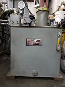 Parker Hydraulics H pak Power Unit Only Used Approximately 4 000 Hours