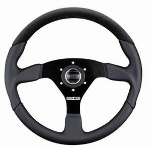 Sparco Racing L505 Leather Alcantara Steering Wheel 350mm Dish Concave