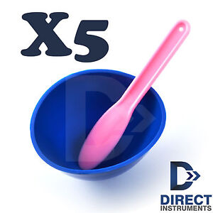 X5 Dental Flexible Rubber Mixing Bowl Cup Lab Impression Alginate Spatula Carver