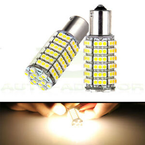 Rv Trailer Led 1156 Tail Light Turn Signal Bulbs 120 Smd Warm White High Power
