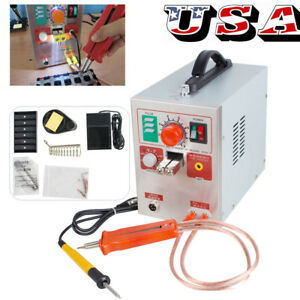 Usa Led Dual Pulse Spot Welder Welding Battery Charger 800a 110v Industry Gift