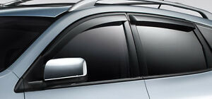 Genuine Nissan Rogue 2008 2013 Side Window Deflectors 4 Piece Set New Oem