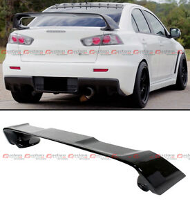 For 2008 17 Mitsubishi Lancer Evo 10 X Style Painted Blk Rear Trunk Spoiler Wing