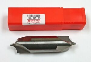 Cre 001 375 3 flute Double Ended Carbide Corner Rounding End Mill Micro 100