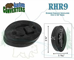 Rhr9 Exhaust Mount Rubber Insulator Grommet Hanger Bushing 5 16 Rod Support