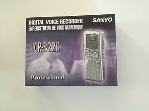 Sanyo Icr b200 Digital Voice Recorder Transcriber New