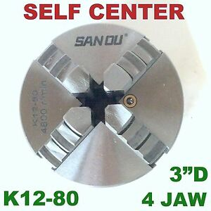 1 Pc Lathe Chuck 3 4 Jaw Self Centering W 2 Sets Jaw K12 80 Sct 888