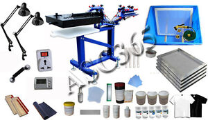 3 Color 1 Station Screen Printing Kit Fine Tuning Silk Screen Printing Machine