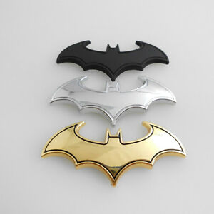 Chrome Metal Badge Emblem Batman 3d Tail Decals Auto Car Motorcycle Logo Sticker