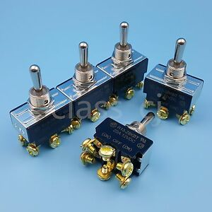 5pcs Sci R13 28kbt Metal Lever on off on Dpdt Momentary Toggle Switch Dc12v