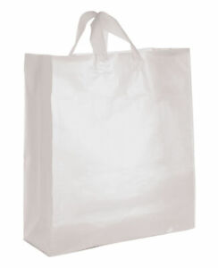 Clear Bags Plastic 200 Retail Merchandise Shopping Frosted Frosty 16 X 6 X 19