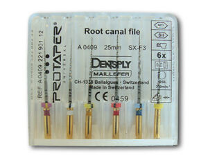 Dentsply Rotary Protaper Universal Engine Niti Files 25 Mm Sx f3 4 Pack
