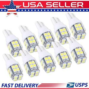 White Led Lights Lamp For Car 20 Smd T10 Interior Licence Plate Light 10 Bulbs