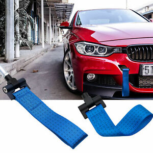 Jdm Blue Racing Tow Hole Strap For Bmw 2 3 4 5 Series F30 F32 F10 2012 up