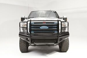 Fab Fours Black Steel Ranch Front Bumper For 1999 2004 Ford F250 F350 Super Duty