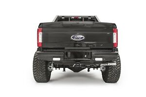 Fab Fours Black Steel Ranch Rear Bumper Fits 2017 Ford F250 F350 Sd