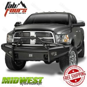 Fab Fours Black Steel Elite Pre Runner Bumper Fits 2006 2009 Dodge Ram 2500 3500