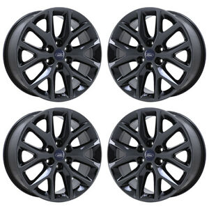 20 Ford Expedition Black Chrome Wheels Rim Factory Oem 2018 Set 4 3991 Exchange
