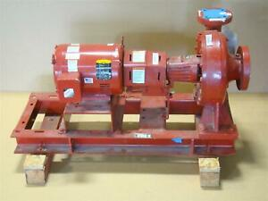 Bell Gossett 7 5hp 90gpm Fire Pump E 1510 Ssf 11 2eb 230 460v 3ph
