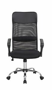 Black Pu Leather Chair Mesh High back Task Chair