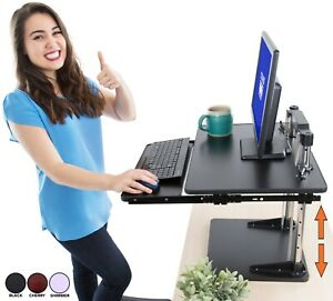 The Uptrak Metro Standing Desk Bonus Keyboard Tray Sit to stand Desk