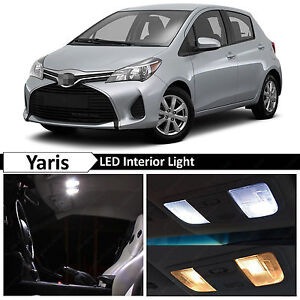 White Interior Led Lights Package For 2012 2016 Toyota Yaris