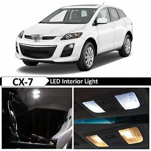 White Interior Led Lights Package Kit For 2007 2012 Mazda Cx 7 Cx7