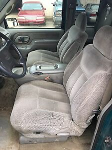 Chevy Seats 40 20 40 Buckets W Center Console Cloth